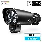 Überwachungskamera IN-9008 Full HD schwarz von INSTAR - wetterfeste Außenkamera - WLAN IP Kamera - Aussen - Alarm - PIR - Bewegungserkennung - Nachtsicht -...