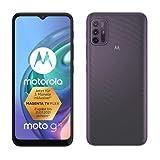 Motorola moto g10 (6,5'-Display, 48-MP-Kamera, 4/64 GB, 5000-mAh, Dual-SIM, Android 11) Aurora Grey, inkl. Schutzcover + KFZ-Adapter [Exklusiv bei Amazon]