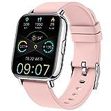 Smartwatch, Fitness Tracker 1,69 Zoll Touch-Farbdisplay Fitness Armbanduhr mit Herzfrequenz Schlafmonitor, Fitnessuhr Damen Sportuhr Schrittzähler, Stoppuhr...