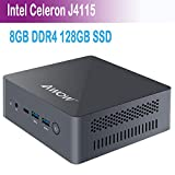 Mini PC AWOW AK41 Desktopcomputer Windows 10 Home Intel Celeron J4115 mit 8GB DDR4/ NVMe M.2 128GB SSD 4K@60Hz, Dual HDMI, Erweiterte SSD 2 TB, 2.4G/5G Dual...