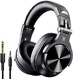 OneOdio Bluetooth Kopfhörer Over Ear Geschlossene HiFi Studiokopfhörer mit Share Port, kabellose 40Stdn Headphone kabelgebundeneDJ-Kopfhörer für E-Drum...