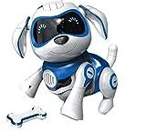 RCTecnic Roboterhund für Kinder ROCK Puppy Roboter Hund Interaktiv Kinder Spielzeug mit Emotionen und Bewegung, Bellen und Spielen mit Knochen, Akku und...