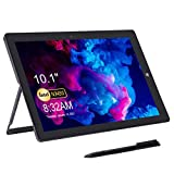 AWOW 10,1 Zoll Tablet PC Windows mit Stylus Pen, Windows 10' S Mode Intel Celeron N3450 8GB RAM 128GB eMMC, Dual Camera 2MP und 5MP, 6500mAh Akku, Wifi, BT4.2