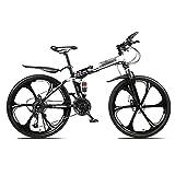 WYZDQ Tragbarer Arbeit Fahrrad Männer und Frauen-Schlag-Absorptions-Folding Mountain Bike Adult Variable Speed Querfeldeinrennen,Weiß,24 Speed (24...