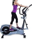 Heydidi Crosstrainer, elliptisch, für Heimgebrauch, verstellbare Arme und Pedale, HRC-Kontrollprogramm für Cardio, Fitness, Stärke, Konditionstraining