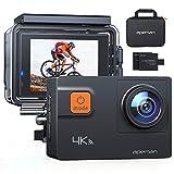 APEMAN Action Cam A80,UHD 4K WiFi 20MP Unterwasserkamera Digitale wasserdichte 40M Helmkamera (kostenlose Transporttasche, 2x1050mAh verbesserten Batterien)