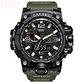 WAZA Militär Uhr Herren, Sportuhr Fit Uhr Wasserdicht Nachtleuchtende Stoppuhr Digitaluhren