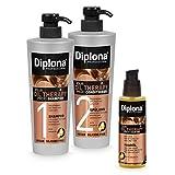 DIPLONA Pflegeset für trockenes & lockiges Haar - Shampoo, Spülung & Haar Öl YOUR OIL THERAPY PROFI mit Arganöl für Frauen - veganes Haarpflege Set ohne...