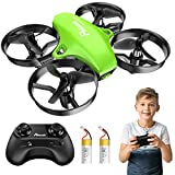 Potensic Mini Drohne für Kinder und Anfänger mit 2 Akkus, RC Quadrocopter, Mini Drone mit Höhenhaltemodus, Start / Landung mit einem Knopfdruck, Kopflos...