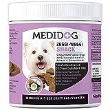 Medidog Zeggi Weggi 400g Premium Schutz Drops für Hunde, Kaltgepresst und Getreidefrei, mit Schwarzkümmelöl, Kokosöl und Zistrose, Hypoallergene Formel