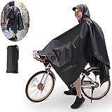 TBoonor Handschlaufen Fahrrad Poncho Premium Regenponcho mit Verstellbarer Kapuze reißfestes und Wasserdichtes Regenjacke Regenponcho Fahrrad Raincoat...