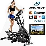 Nautilus Ellipsentrainer E626 mit 29 Trainingsprogrammen Ellippsentrainer, Bluetooth für Smartphone und Tablet, elektronische Steigungsmechanik simuliert...