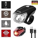 AceLife LED Fahrradlicht Set, USB Wiederaufladbare Fahrradlampe StVZO Zugelassen Fahrradbeleuchtung Fahrradlichter Set mit USB Kabel, 2 Licht Modi, Wasserdicht...