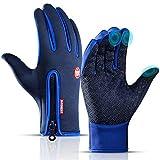 KEZKALS Handschuhe Herren Damen Winter - Touchscreen Handschuhe, Fahrrad Handschuhe, Winterhandschuhe, Wasserdicht, Winddicht & Rutschfest Thermohandschuhe,...