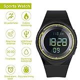 RCruning-EU Schrittzähler Fitness Armband Wasserdicht IP68 Aktivitätstracker,Schrittzähler,Kalorienzähler Ohne Bluetooth für Damen Kinder Herren Ohne App...