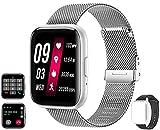 Smartwatch(Empfangen /Tätigen eines Anrufs) 1,54 voller Touchscreen Fitness-Tracker mit Herzfrequenz Blutdruck Sauerstoff Schrittzähler Schlaf-Tracker für...