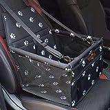 SWIHELP Hundesitz für Auto Rücksitz für kleine bis mittlere Hunde - stabiles & wasserfestes Material schwarz - Hunde-Autositz für Rückbank faltbar - Schutz...