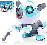 Felly Roboter Hund für Kinder, Intelligentes Roboter Hundespielzeug Spielzeug ab 3 4 5 6 7 8 Jahre Kinder Jungen Mädchen, Berührungsgesteuert Robo mit Licht...