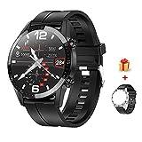 Voigoo Smartwatch (2021 neu) 1.3' Touch Screen Herren Damen Intelligente Uhren Sport   Bluetooth-Anruf   EKG-Überwachung Tracker Pulsuhr Schrittzähler...