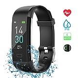 Fitness Armband mit Pulsmesser, Sportuhr Smartwatch Wasserdicht IP68 Fitness Tracker Farbbildschirm Aktivitätstracker Pulsuhren Schrittzähler Uhr für Damen...
