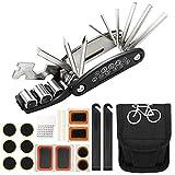 Homealexa Fahrradwerkzeug Praktisches Fahrrad Werkzeug- und Reparatur Set - Flickzeug mit 19-in-1 Multitool, Aufbewahrungstasche - Fahrradflickzeug -...