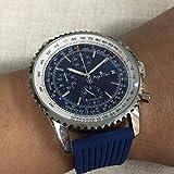 IWHSB Luxusmarke automatische Armbanduhren Quarz automatische mechanische Chronograph Stoppuhr schwarz blau Gummi Edelstahl Saphir Sport wasserdichte Uhren 8