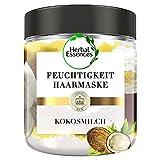 Herbal Essences PURE:renew Kokosmilch Feuchtigkeit Haarmaske Coconut Milk, 250 ml, Kokos, Haarpflege Glanz, Haarpflege Trockenes Haar, Aloe Vera, Haarkur, Haare...