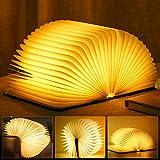 LED Buch Licht Faltbare Buchlampe Licht Buchlampe LED Stimmungsbeleuchtung USB Aufladbare WarmweißSchreibtisch Buch Licht Nachtlicht Nachttischlampe für...