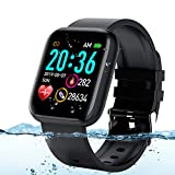 Adhope Smartwatch für Herren Damen Sportuhr Fitness Armbanduhr Bluetooth 1.3 Zoll Voll Touchscreen Smartwatch Wasserdicht mit Pulsmesser Schlafmonitor...