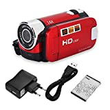 Socobeta Camcorder Digitalkamera Full HD 270 ° Drehung 1080P 16X High Definition Digital Camcorder Video DV Kamera(EU-ROT)
