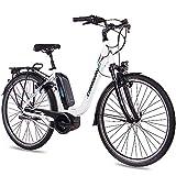 CHRISSON 28 Zoll Damen Trekking- und City-E-Bike - E-Cassiopea Weiss - Elektro Fahrrad Damen - 7G Shimano Nexus Nabenschaltung - Pedelec mit Bosch Mittelmotor...