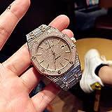 CWTCHY Herrenuhren Marke Militär Edelstahl Automatikuhr Herren Sport Armbanduhr Voll Diamanten Gold5