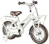 Liberty 12 Zoll Fahrrad Holland Style Qualitäts Kinderfahrrad mit Stützräder Weiss 21228