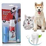 SEGMINISMART Hundezahnbürste,Zahnpflege für Hunde,Zahnpflege-Set,Zahnsteinentferner Ergänzung gegen Mundgeruch bei Hunden, Natürliche und Wirksame Reinigung...