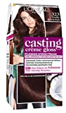 L'Oréal Paris Casting Creme Gloss Glossy Blacks Pflege-Haarfarbe, 323 Dunkle Schololade, 1 x 75 ml