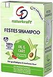 CD Festes Shampoo Avocado- und Rizinus-Öl für geschädigtes & trockenes Haar, 75 g, nachhaltige Haarseife, pflegendes Haarshampoo ohne Mikroplastik, vegane...