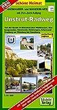 Radwander- und Wanderkarte Unstrut-Radweg: Von der Quelle im Eichsfeld über Mühlhausen, Bad Langensalza, Sömmerda, Heldrungen, Artern und Freyburg bis ......