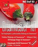 Webdesign mit Dreamweaver KIT, 2 CD-ROMs u. Buch Das Komplettpaket zu professionellem Webdesign mit Dreamweaver. Buch: 'Hot Stuff Dreamweaver MX'. Auf CD: 500...