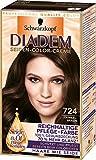 Diadem Seiden-Color-Creme, 724 Dunkelbraun, 3er Pack (3 x 142 ml)