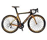 SAVADECK Phantom3.0 Carbon Rennrad 700C Kohlefaser Rennräder Vollcarbon Fahrrad mit Shimano Ultegra R8000 22 Gang Schaltgruppe Continental Reifen und Fizik...
