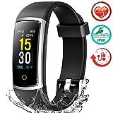 Fitness Armband mit Pulsmesser, Wasserdicht IP68 Pulsuhr Fitness Tracker Farbbildschirm Aktivitätstracker Fitness Uhr Schrittzähler Schlafmonitor mit...