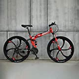 Novokart-faltbares Sport- / Mountainbike/Fitness im Freien/Freizeitradfahren / 26 inches (Zoll 6 Cutter Wheel, Rot