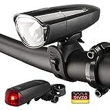 BV LED Batterie Fahrradlicht Set 30/15 Lux mit LED Rücklicht, StVZO Zugelassen LED Fahrradbeleuchtung Frontlicht und Rücklicht Set, 2 Licht-Modi Fahrradlampe,...