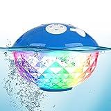 Tragbare Bluetooth Lautsprecher Farblicht, Schwimmend Dusche Lautsprecher Bluetooth4.2 Kabelloser Lautsprecher IPX7 Wasserdichtes, Eingebautem Mikrofon...