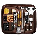 Eventronic Uhrenwerkzeug Set, Uhr Reparatur Uhrmacherwerkzeug Tasche, Watch Tools in Nylontasche, Uhr Werkzeug Set für Die Meisten Uhrens, mit Größem...