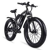 sheng milo MX02S 1000W Elektrofahrrad Elektrisches Mountainbike 26-Zoll-Fettreifen E-Bike 21 Geschwindigkeiten Beach Cruiser Herren Sport Mountainbike...