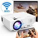 [Wireless Beamer] WiFi Beamer 5000 Lux Unterstützt 1080P Full HD, Native 720P WiFi Projektor Kompatibel mit Smartphone Tablet TV Stick Spielekonsole HDMI VGA...
