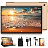 Tablet 10 Zoll mit 5G WiFi + Dual 4G LTE, Android 10 Original YESTEL T5 Ultraschnelles Tablets, 1920 * 1200 IPS | Face ID | Octa-Core-Prozessor | OTG |...