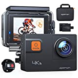 APEMAN Action Cam A80, 4 K 20 MP WiFi, wasserdicht, 40 m, Digitalkamera, Transporttasche mit Zwei Batterien
