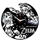 The Legend of Zelda Wanduhr Vinyl Schallplatte Retro-Uhr Handgefertigt Vintage-Geschenk Style Raum Home Dekorationen Tolles Geschenk Wanduhr The Legend of Zelda